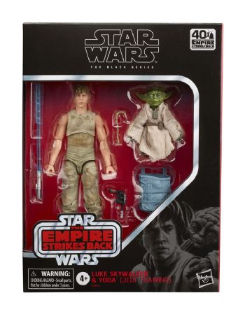 Star Wars The Black Series Luke Skywalker and Yoda Action Figure 2 Pack - Instock